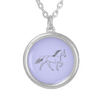 Tennessee Walking Horse Silver Plated Necklace