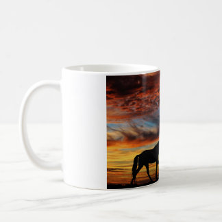 Tennessee Walking Horse Sunset Silhouette Coffee Mug