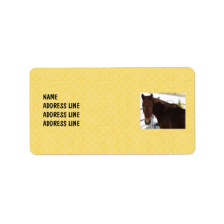Tennessee Walking Horse Yellow Pattern - Western Label