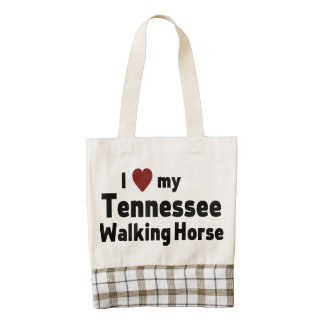 Tennessee Walking Horse Zazzle HEART Tote Bag