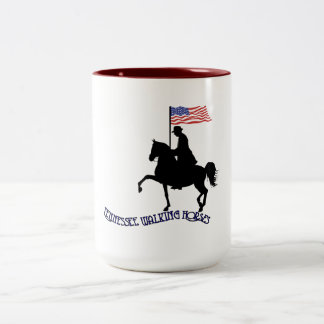 Tennessee Walking Horses Two-Tone Coffee Mug