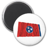 Tennessee Waving Flag Refrigerator Magnets