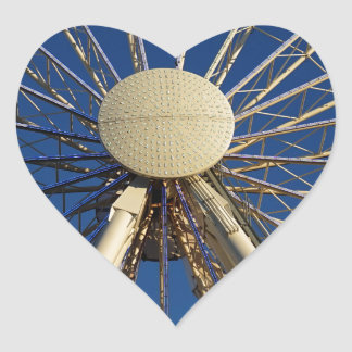 Tennessee Wheel Heart Sticker
