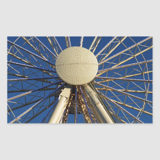 Tennessee Wheel Rectangular Sticker