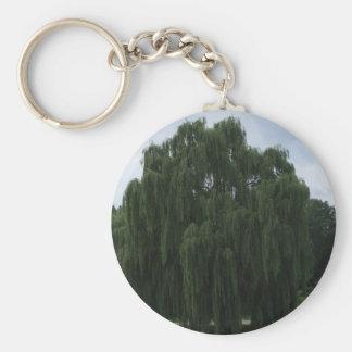 Tennessee Willow Tree Basic Round Button Keychain