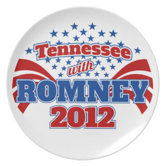 Tennessee with Romney 2012 Melamine Plate