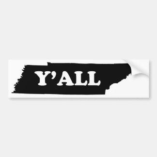 Tennessee Yall Bumper Sticker