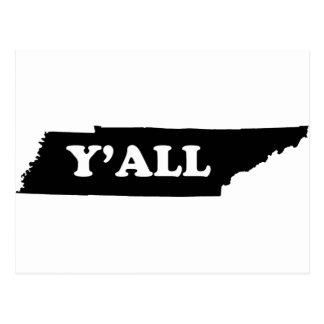Tennessee Yall Postcard