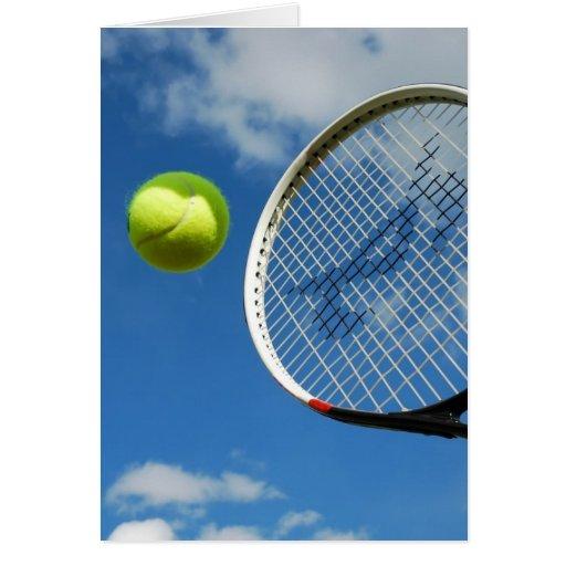 tennis3 tarjeta de felicitación