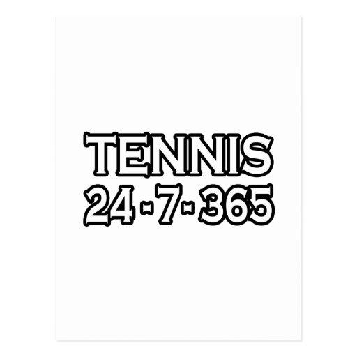 Tennis 24-7-365 postcard