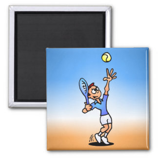 Tennis 2 Inch Square Magnet