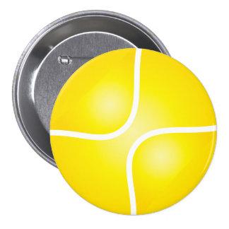 Tennis 3 Inch Round Button