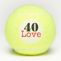 Tennis 40th Birthday  tennis ball and number love