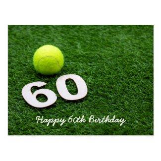 Tennis 60th Birthday Postcard