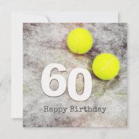 Tennis 60th Birthday with tennis balls