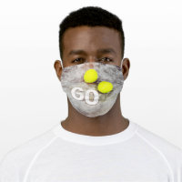 Tennis 60th Birthday with tennis balls and number Adult Cloth Face Mask