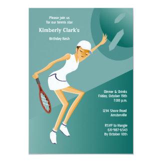 Tennis Ace Female Invitation