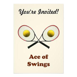 Tennis Ace of Swings Invites