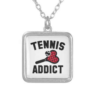 Tennis Addict Silver Plated Necklace