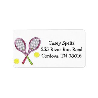 Tennis Address Labels