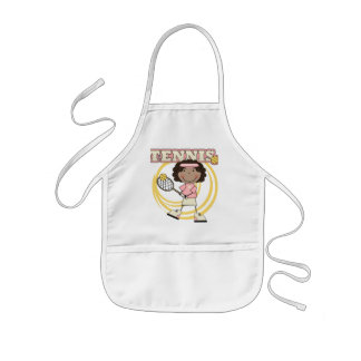 TENNIS - African American Girl T shirts and Gifts Kids' Apron