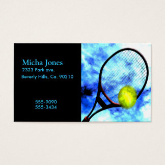 Tennis All Day Grunge Style Business Card