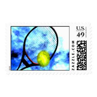 Tennis All Day Grunge Style Postage