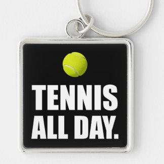 Tennis All Day Keychain