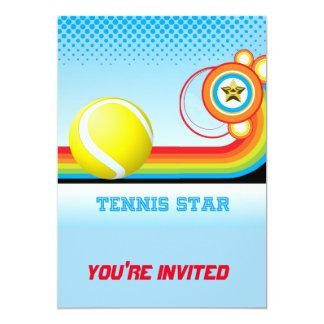 Tennis and Rainbow Stripe TENNIS Star Card