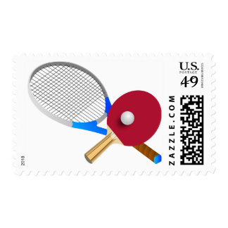 Tennis and table tennis postage