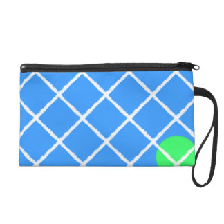 Tennis Anyone? Abstract Wristlet Clutches
