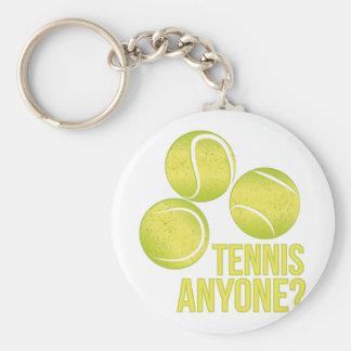Tennis Anyone Basic Round Button Keychain