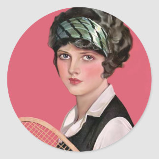 Tennis Anyone Classic Round Sticker