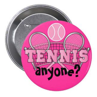 Tennis Anyone?   Pink Button