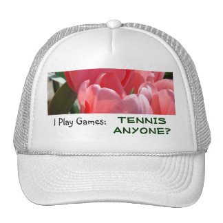 Tennis Anyone? sports hats White Pink Play Games