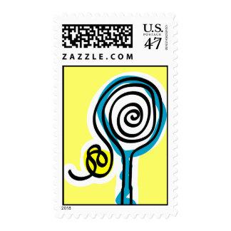 Tennis Art Stamp