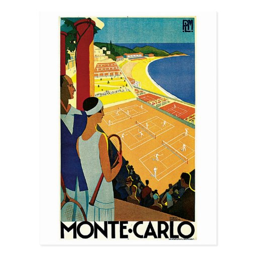 Tennis at Monte Carlo Postcard