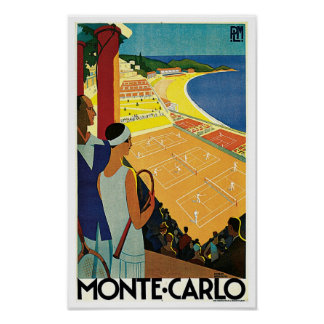 Tennis at Monte Carlo Poster