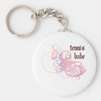 Tennis Babe Keychain