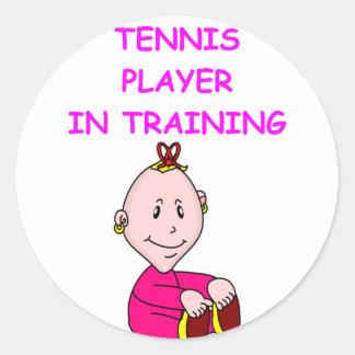 TENNIS baby Classic Round Sticker
