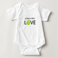 Tennis Baby Onsie It Starts With Love Baby Bodysuit