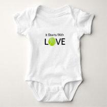 Tennis Baby Onsie It Starts With Love Baby Bodysuit