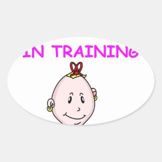 TENNIS baby Oval Sticker