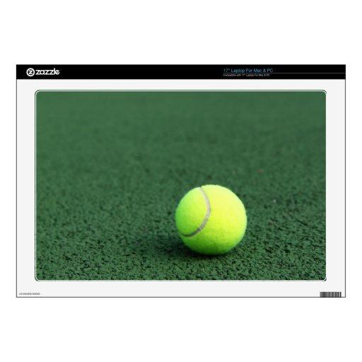 """Tennis Ball 17"""" Laptop Skin"""