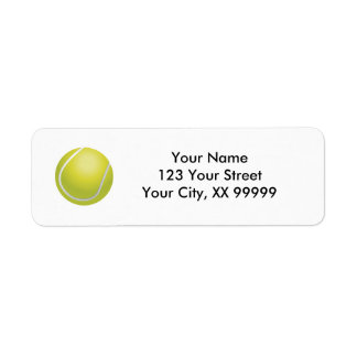 Tennis Ball Address Labels