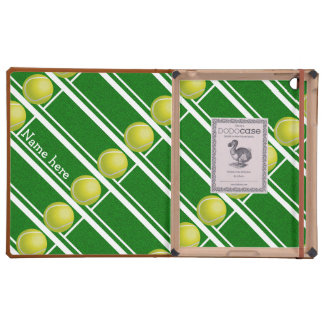Tennis ball and court tiled