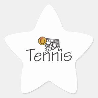 TENNIS BALL AND NET STAR STICKER