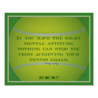 Tennis Ball and Quote 003 Poster