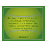 Tennis Ball and Quote 003 Posters