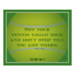 Tennis Ball and Quote 004 Posters